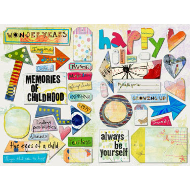Daisy D's Paper Company - Wonder Years Collection - Cardstock Die-Cuts - Wonderland, CLEARANCE