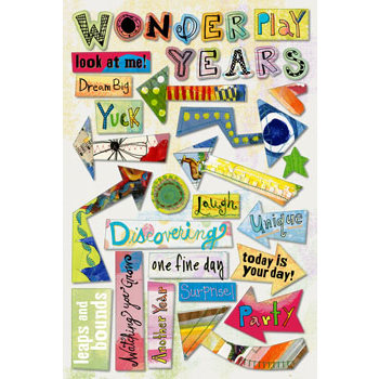 Daisy D's Paper Company - Wonder Years Collection - Cardstock Stickers - Simon Says, CLEARANCE