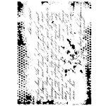 Dress My Craft - A4 Stencil - Vintage Script