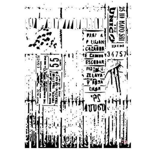 Dress My Craft - A4 Stencil - Ledger Script