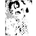 Dress My Craft - A4 Stencil - Abstract Lady