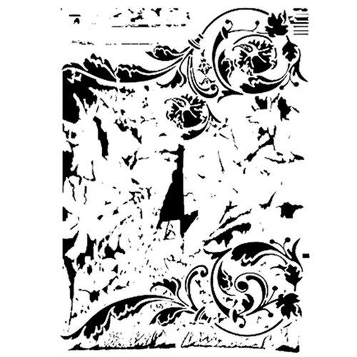 Dress My Craft - A4 Stencil - Swirls