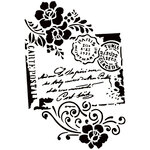 Dress My Craft - A4 Stencil - Carte Postal