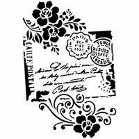 Dress My Craft - A4 Stencil - Carte Postal