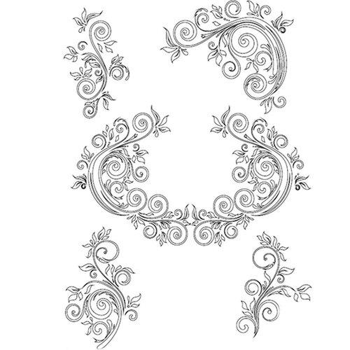 Dress My Craft - A4 Stencil - Delicate Flourishes