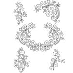 Dress My Craft - A4 Stencil - Delicate Flourishes