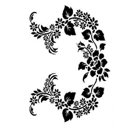 Dress My Craft - A4 Stencil - Floral Flourishes