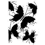 Dress My Craft - A4 Stencil - Butterflies Splatter