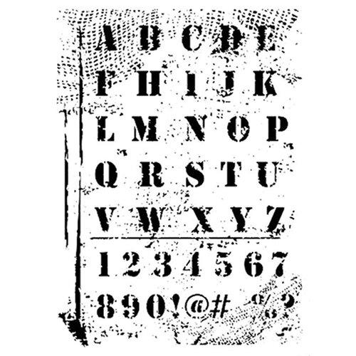 Dress My Craft - A4 Stencil - Grungy Alphabets