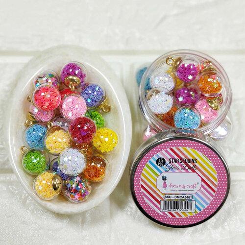 Dress My Craft - Embellishments - Star Sequins Glass Balls