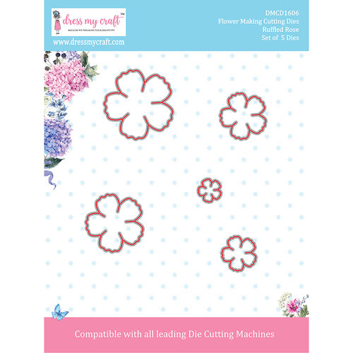 Dress My Craft - Flower Making Dies - Ruffled Rose