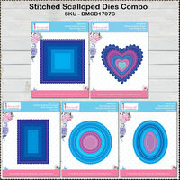 Dress My Craft - Designer Dies Combo Pack - Stitched Scallop