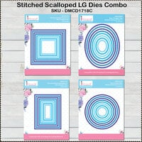 Dress My Craft - Designer Dies Combo Pack - Stitched Scallop Frames - Large