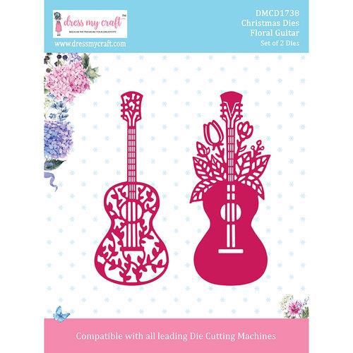 Dress My Craft - Dies - Christmas - Floral Guitar
