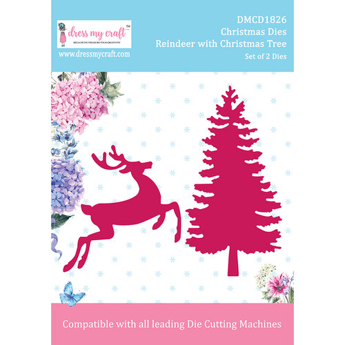Dress My Craft - Dies - Reindeer with Christmas Tree