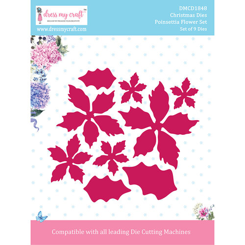 Dress My Craft - Dies - Christmas - Poinsettia Flower Set