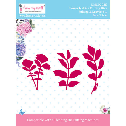 Dress My Craft - Flower Making Dies - Foliage and Leaves 1