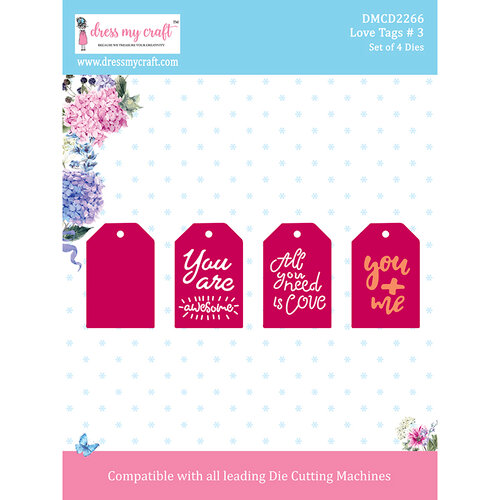 Dress My Craft - Dies - Love Tags 3