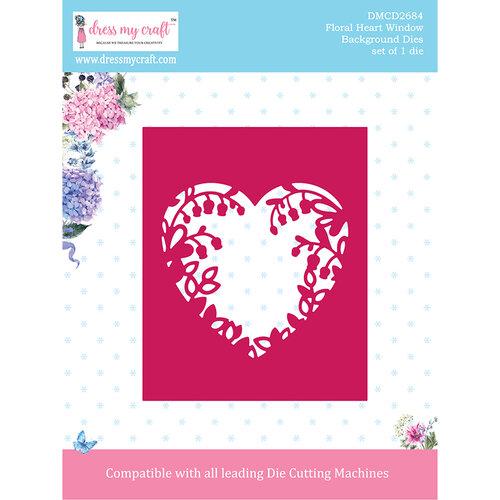 Dress My Craft - Dies - Floral Heart Window Background