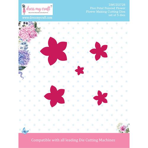 Dress My Craft - Flower Making Dies - Five Petal Pointed Flower