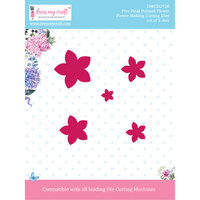 Dress My Craft - Flower Making Dies - Five Petal Pointed Flower