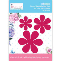 Dress My Craft - Dies - Six Petal Retro Flower