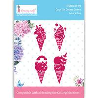 Dress My Craft - Dies - Cute Ice Cream Cones
