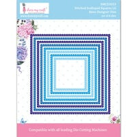 Dress My Craft - Dies - Stitched Scalloped Square Frames - Large