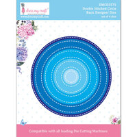 Dress My Craft - Dies - Double Stitched Circle