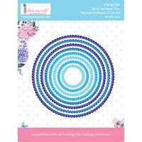 Dress My Craft - Dies - Stitched Scalloped Circle - Large