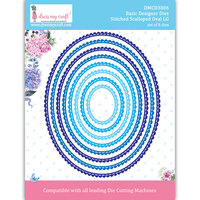 Dress My Craft - Dies - Stitched Scalloped Oval Frames - Large