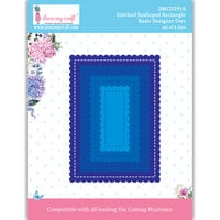 Dress My Craft - Dies - Stitched Scalloped Rectangle