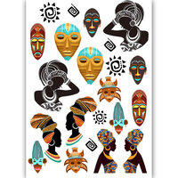 Dress My Craft - Transfer Me - Tribal Faces