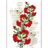 Dress My Craft - Transfer Me - Red Carnations