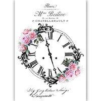 Dress My Craft - Transfer Me - Rose Clock