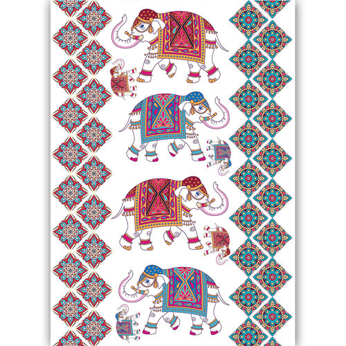 Dress My Craft - Transfer Me - Ethnic Elephants