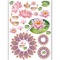 Dress My Craft - Transfer Me - Lotus and Diyas