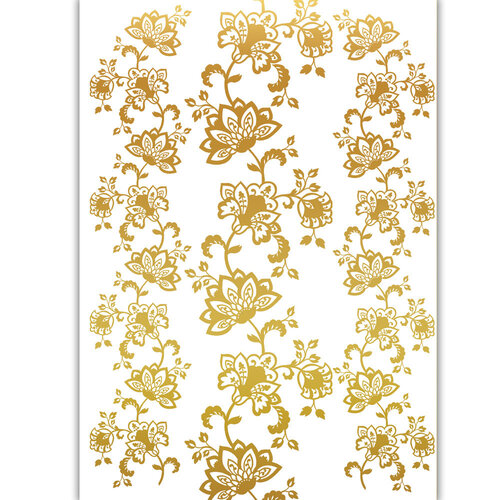Dress My Craft - Transfer Me - 3D Gold Flower Set Six