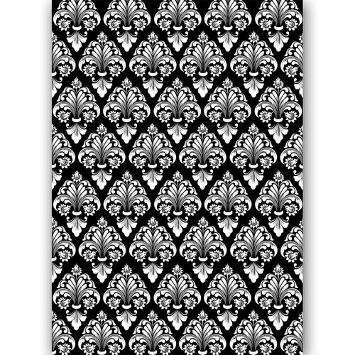 Dress My Craft - Transfer Me - 3D White Damask Two