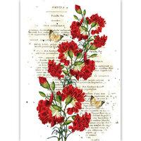 Dress My Craft - Transfer Me - Reverse Red Carnations