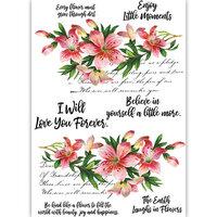 Dress My Craft - Transfer Me - Reverse Lilies