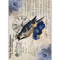 Dress My Craft - Transfer Me - Bird With Clock