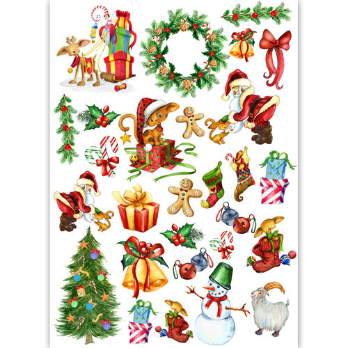 Dress My Craft - Transfer Me - Christmas Elements Set Two