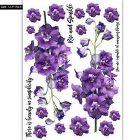 Dress My Craft - Transfer Me - Purple Bouquet