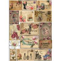 Dress My Craft - Transfer Me - Vintage Colored Tiles
