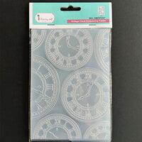Dress My Craft - Embossing Folder - Vintage Clock Pattern