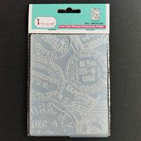 Dress My Craft - Embossing Folder - Post Card Pattern