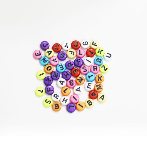 Dress My Craft - Letter Beads - Colorful Round Letters