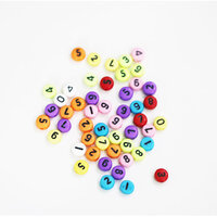 Dress My Craft - Letter Beads - Colorful Round Numbers