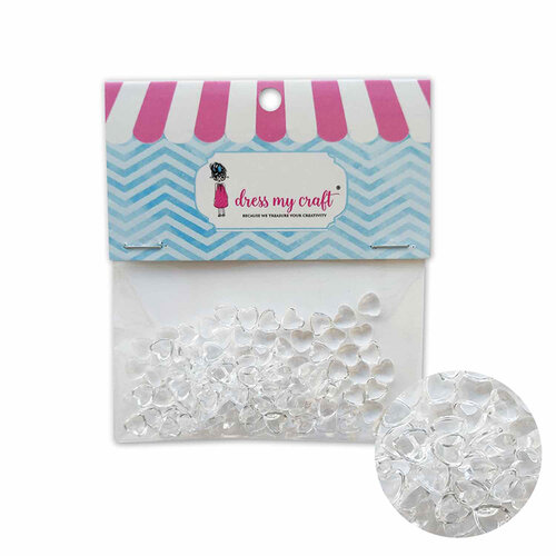 Dress My Craft - Heart Droplets - Assorted